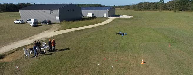 séance de formation drone chez ULM24